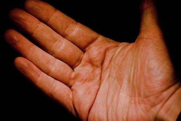 paume d'une main