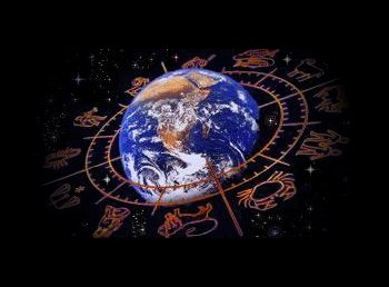 La terre entourée par les signes astrologiques