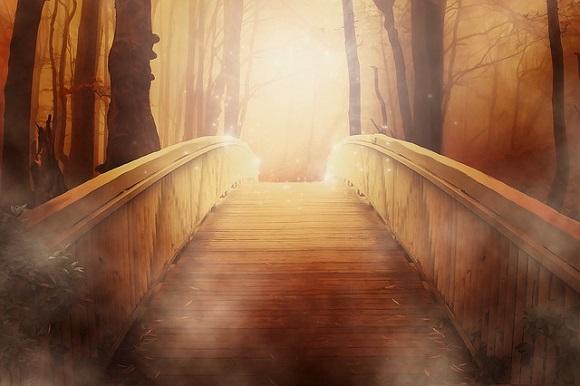 pont éclairé