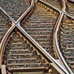 rails d'une voie de train