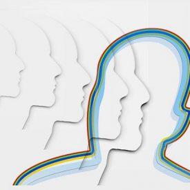 plusieurs silhouettes de profil