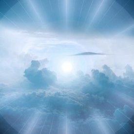Grande lumière dans le ciel
